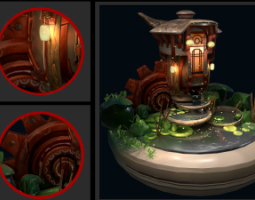 2007期游戏3D美术设计师班1班【O】的五星作品