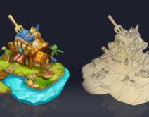 2104期游戏3D美术大师班1班【O】的五星作品