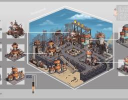 游戏场景建筑