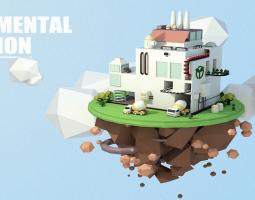 人工绿化岛