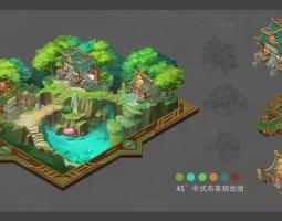 中式布景规划图