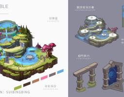 游戏场景沙盘设计